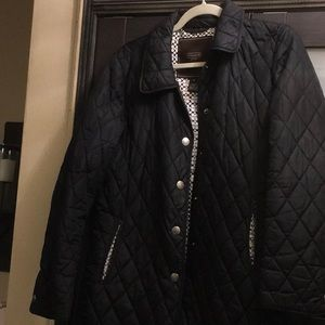 Black coach jacket, super comfy sz small